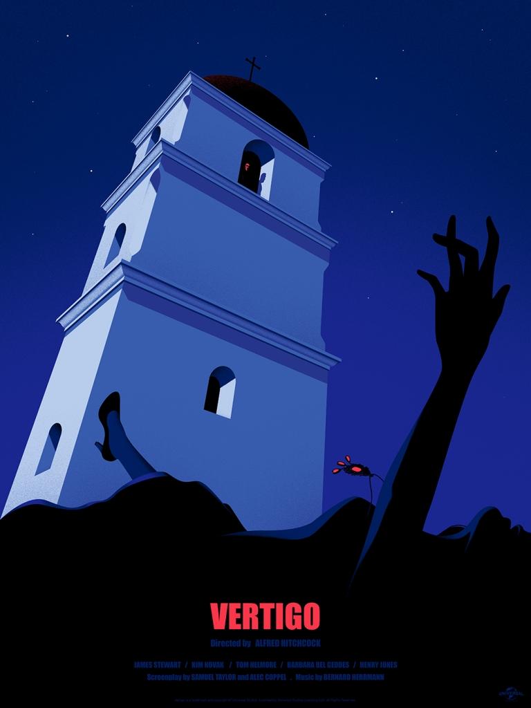 "Vertigo by Thomas Danthony. 18""x24"" screen print"