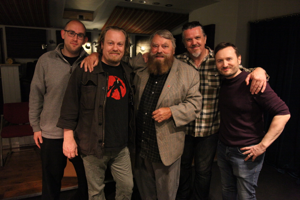 (L-R) Marc Spectre, Drew Cullingham, Brian Blessed, Nick Lean, James Fisher.