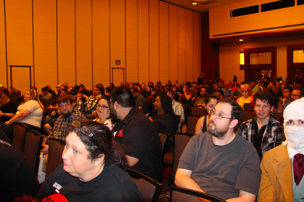 The packed screening room at Texas Frightmare Weekend