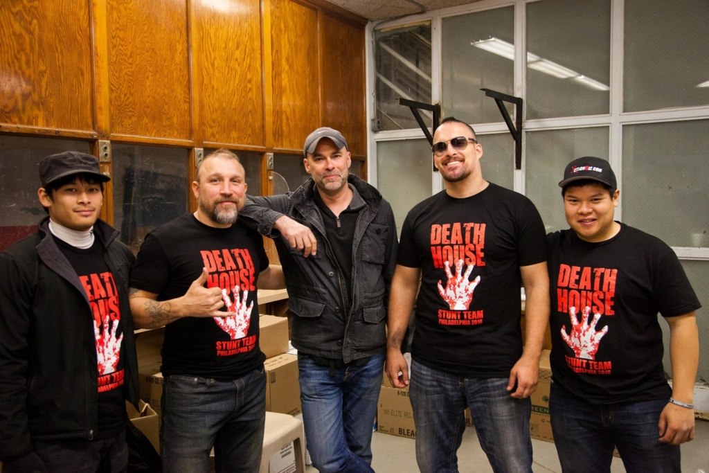 Harrison Smith with the DEATH HOUSE Stunt Team