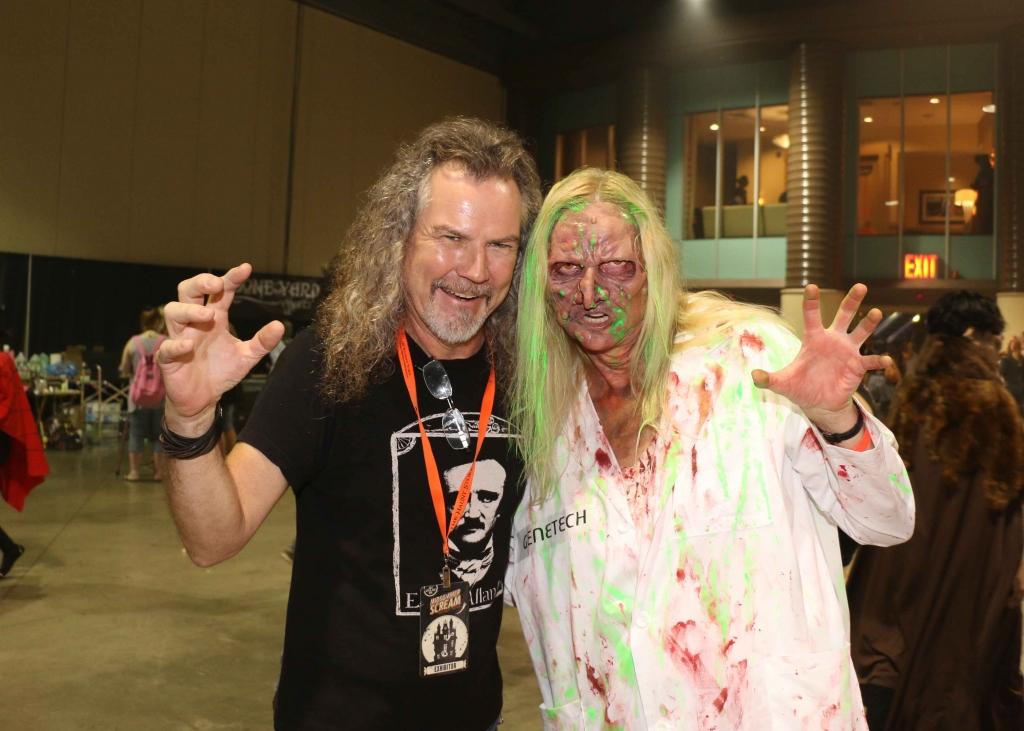 Vicki and Larry Bones at Toxicity makeup