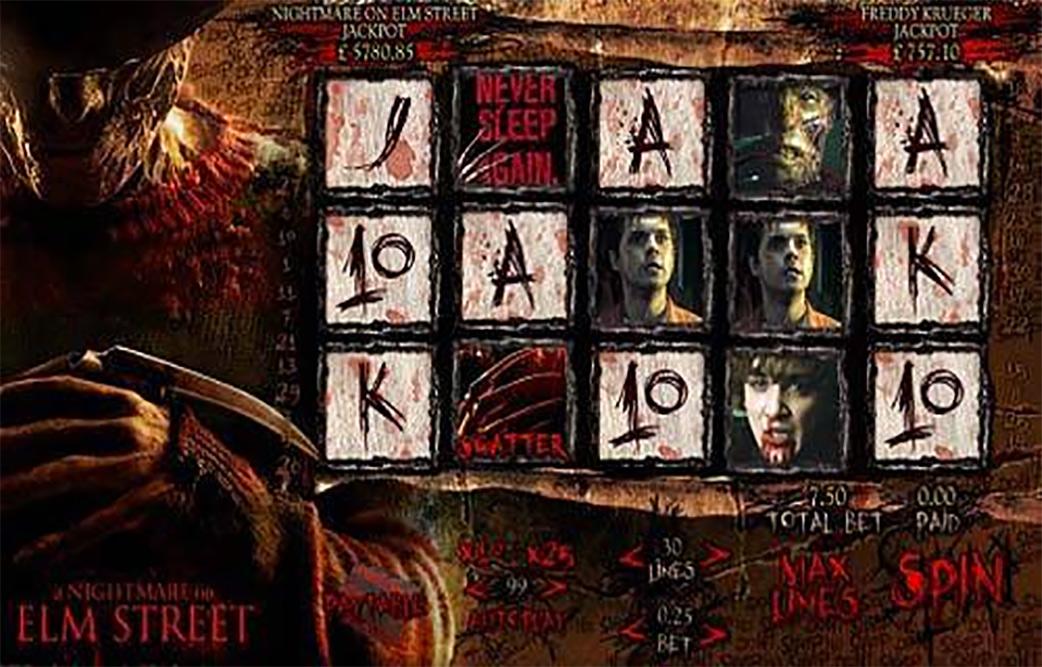 Nightmare on Elm Street Slot Game