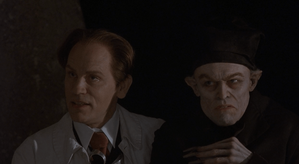 shadow of the vampire Here is a deeply bizarre black horror- comedy about the nosferatu vampire  legend, with preposterous performances from john malkovich and.