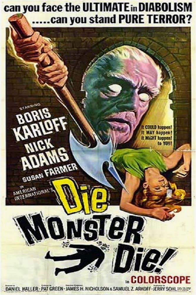 """Poster for the movie """"Die, Monster, Die!"""""""