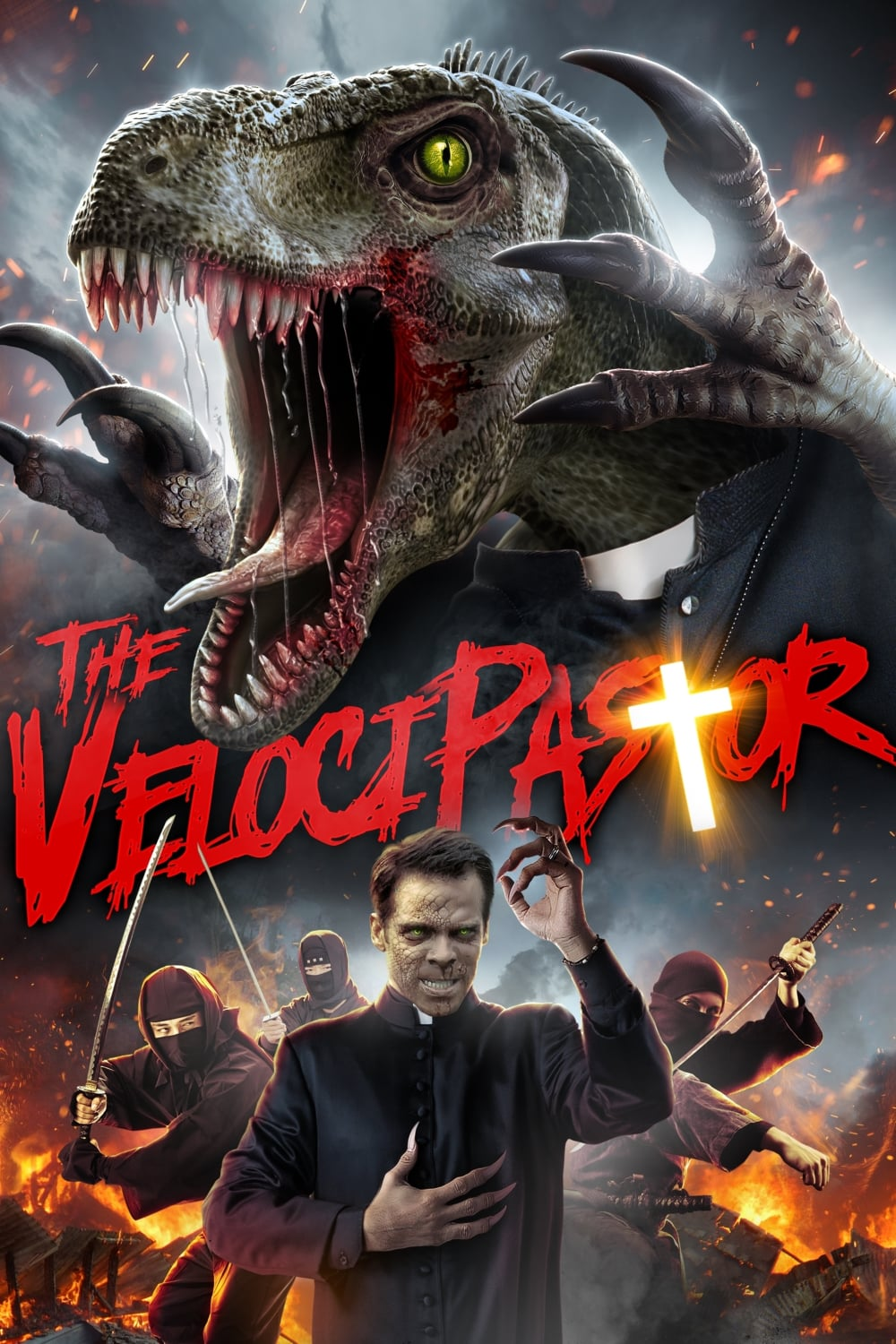 "Poster for the movie ""The VelociPastor"""