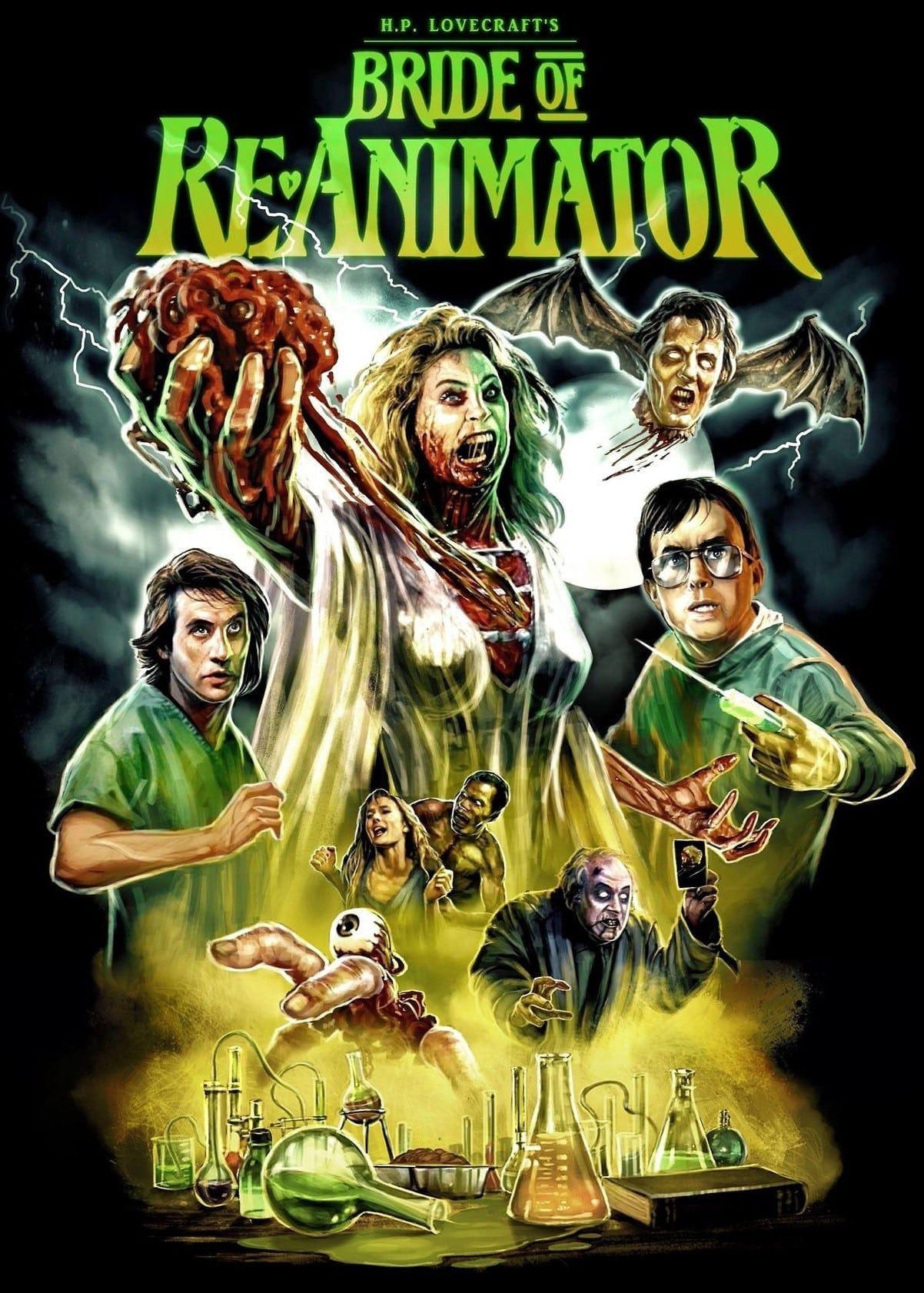 """Poster for the movie """"Bride of Re-Animator"""""""