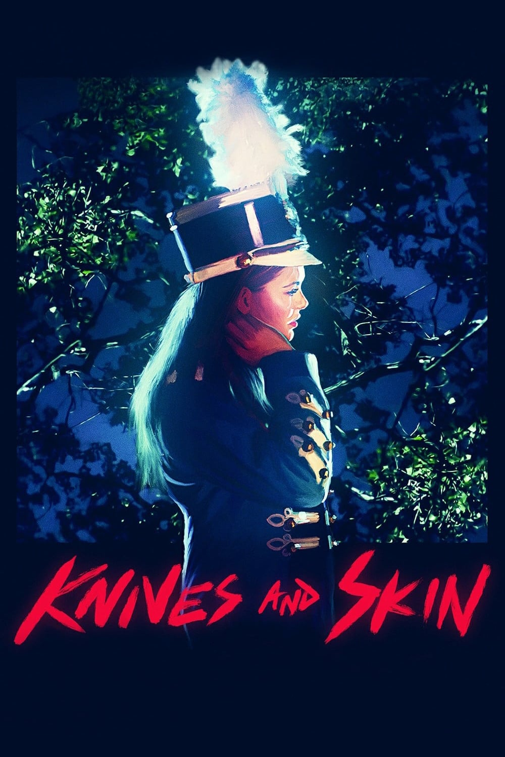 """Poster for the movie """"Knives and Skin"""""""